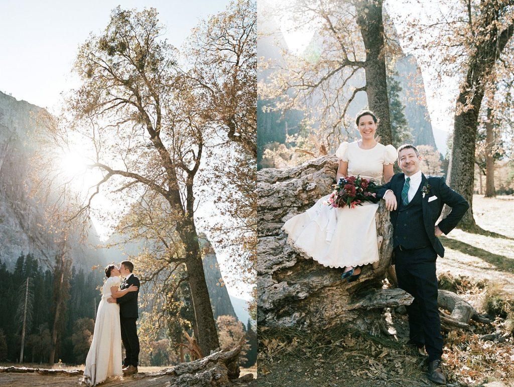 vintage wedding dress woodsy